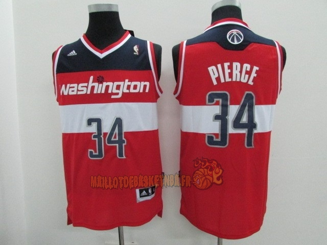 Vente Nouveau Maillot NBA Washington Wizards NO.34 Paul Pierce Rouge pas cher