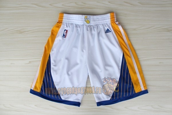 Vente Nouveau Short Basket Golden State Warriors Blanc pas cher