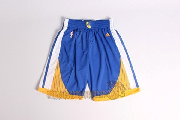 Vente Nouveau Short Basket Golden State Warriors Bleu pas cher