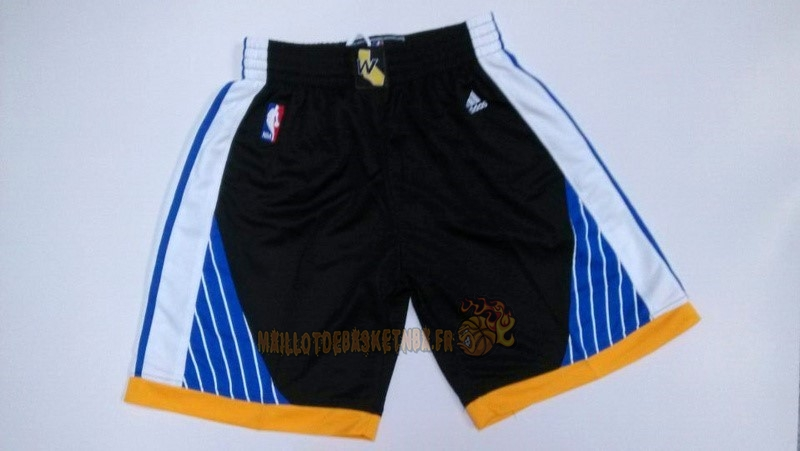 Vente Nouveau Short Basket Golden State Warriors Noir pas cher