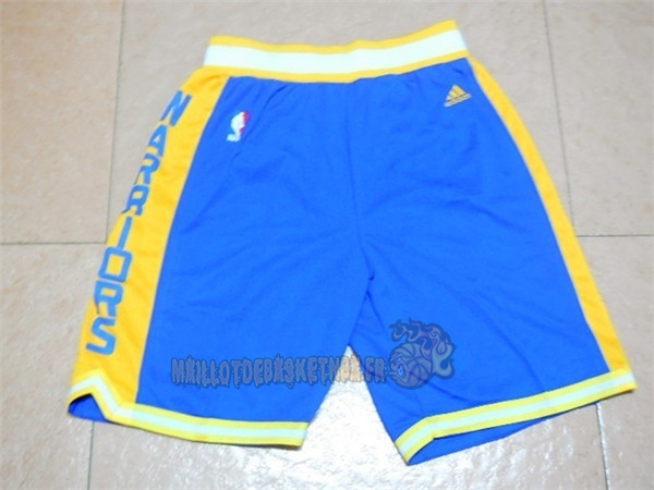 Vente Nouveau Short Basket Golden State Warriors Retro Bleu pas cher