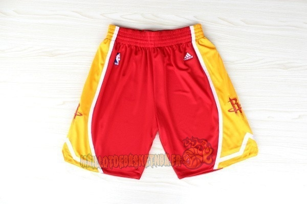 Vente Nouveau Short Basket Houston Rockets Retro Rouge pas cher