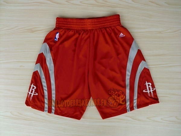 Vente Nouveau Short Basket Houston Rockets Rouge pas cher