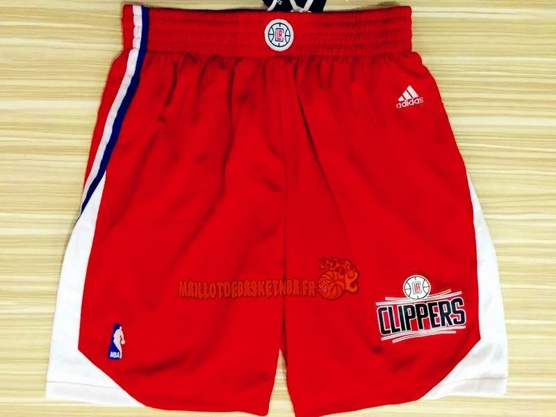 Vente Nouveau Short Basket Los Angeles Clippers Rouge pas cher
